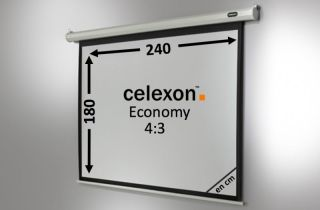 Ecran de projection celexon Economy Motorisé 240 x 180 cm