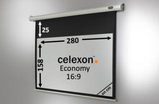 Ecran de projection celexon Economy Motorisé 280 x 158 cm
