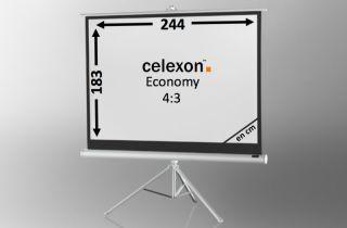 ecran de projection sur pied celexon economy 244 x 138 cm. Black Bedroom Furniture Sets. Home Design Ideas