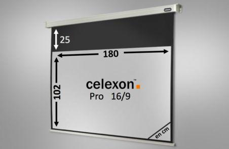 Ecran de projection celexon Motorisé PRO 180 x 102 cm