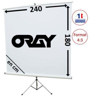 ECRAN ORAY - STYLE TREPIED 180x240 - TRE06B1180240