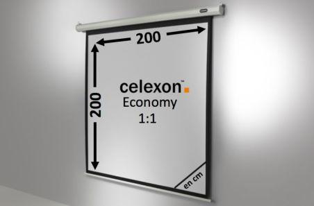 Ecran de projection celexon Economy Motorisé 200 x 200 cm