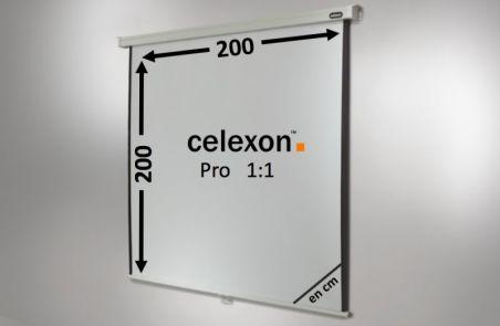 Ecran de projection celexon Manuel PRO 200 x 200 cm