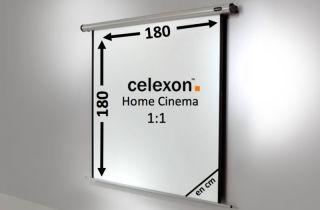 Ecran de projection celexon Motorisé Home Cinema 180 x 180 cm