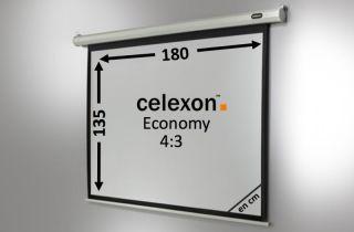 Ecran de projection celexon Economy Motorisé 180 x 135 cm