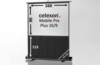 Ecran de projection celexon Mobile PRO PLUS 160 x 90