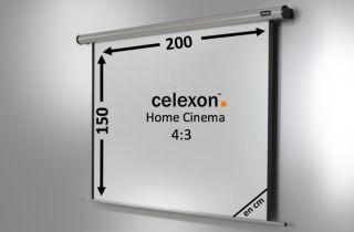 Ecran de projection celexon Motorisé Home Cinema 200 x 150 cm