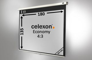Ecran de projection celexon Manuel  Economy 180 x 135 cm