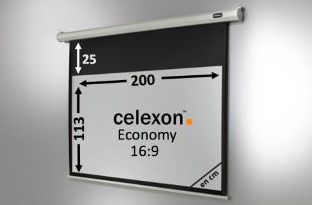 Ecran de projection celexon Economy Motorisé 200 x 113 cm
