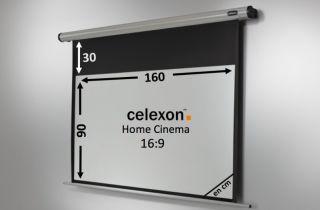 Ecran de projection celexon Motorisé Home Cinema 160 x 90 cm
