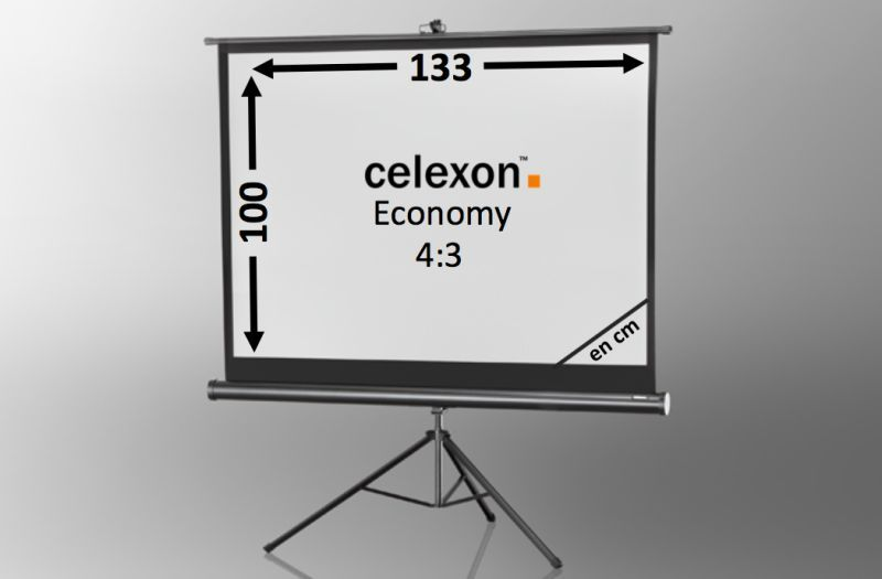 ecran de projection sur pied celexon economy 133 x 100 cm achat vente celexon 1090257. Black Bedroom Furniture Sets. Home Design Ideas