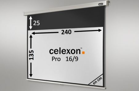 Ecran de projection celexon Manuel PRO 240 x 135 cm