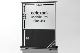 Ecran de projection celexon Mobile PRO PLUS 160 x 120