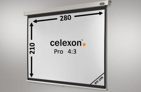 Ecran de projection celexon Manuel PRO 280 x 210 cm