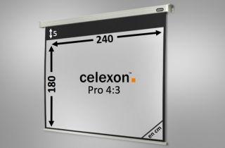 Ecran de projection celexon Motorisé PRO 240 x 180 cm